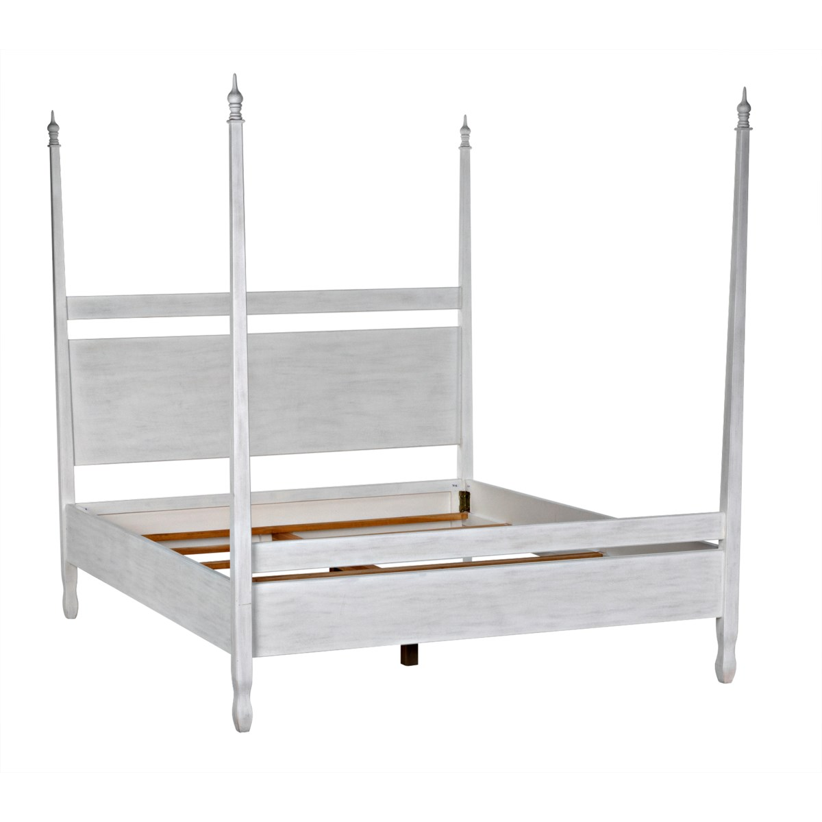 Venice Bed, CA King, White Wash