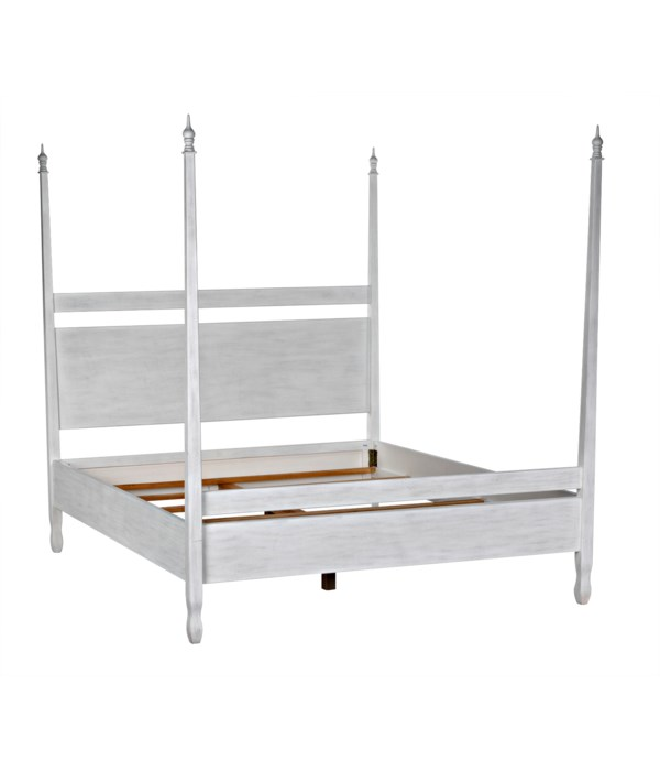 Venice Bed,Cal-King,White Wash