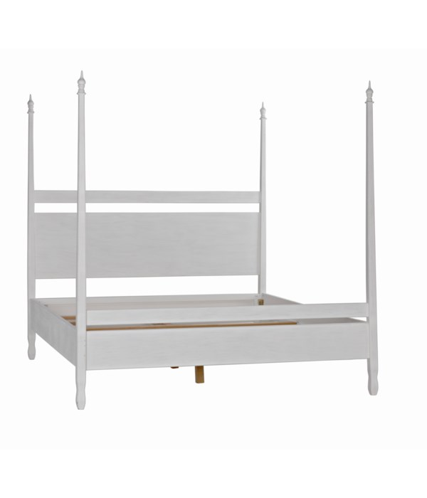 Venice Bed, Eastern King, White Wash