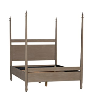 Venice Bed, Queen, Weathered