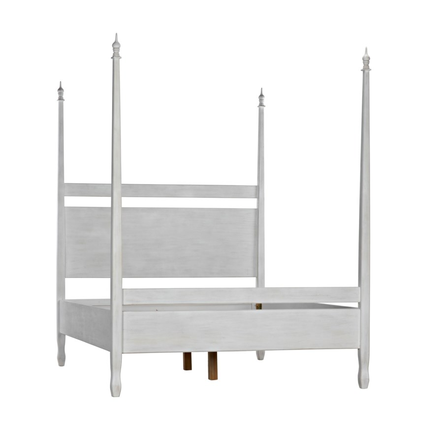 Venice Bed, Queen, White Wash