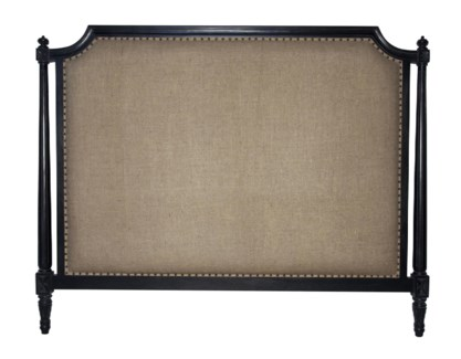 Isabelle Headboard, Eastern King, Hand Rubbed Black