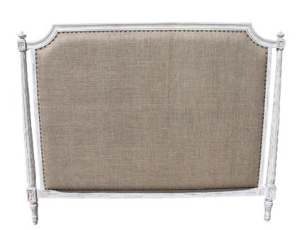 Isabelle Headboard, Queen, White Wash