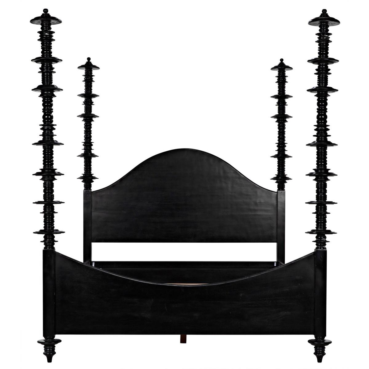 Ferret Bed, Queen, Hand Rubbed Black