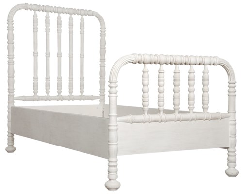 Bachelor Bed, Twin, White Wash