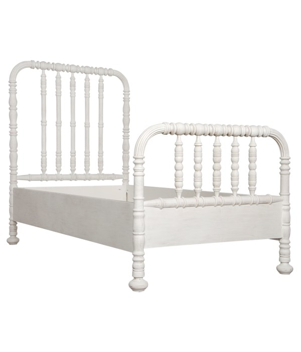 Bachelor Bed, Queen, White Wash