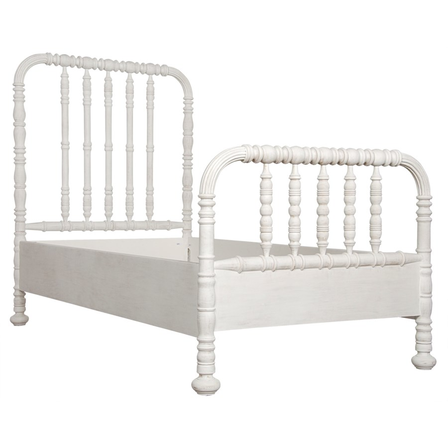 Bachelor Bed, Eastern King, White Wash