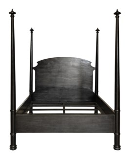 Douglas Bed, Queen, Hand Rubbed Black