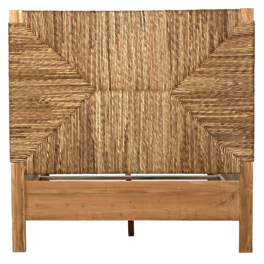 Holden Bed, Full, Teak with Seagrass