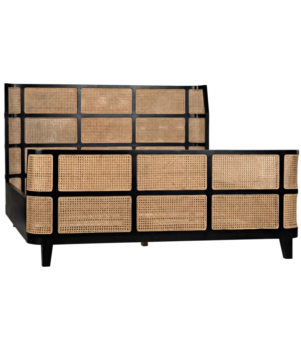 Porto Bed, Eastern King, Hand Rubbed Black
