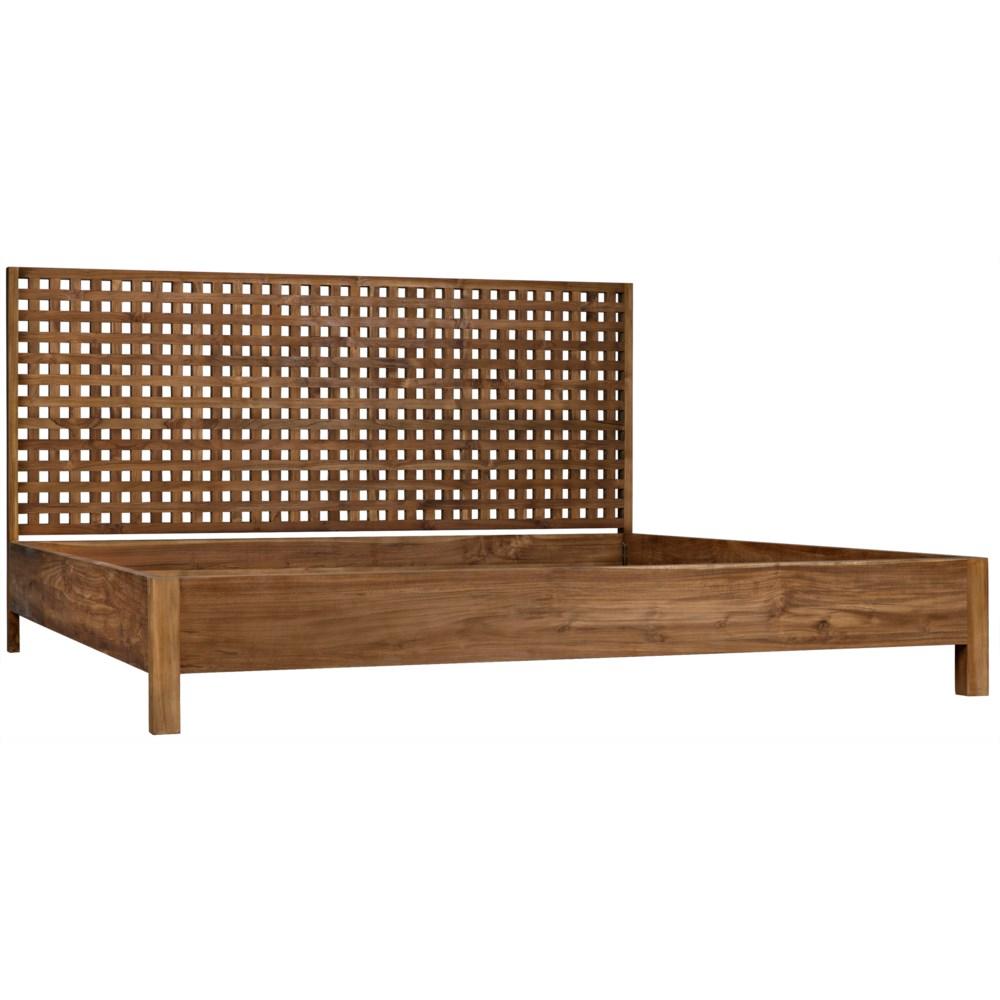 Quinnton Bed, EK, Teak