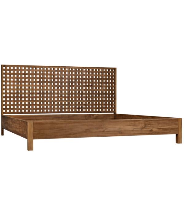 Quinnton Bed, Eastern King, Teak