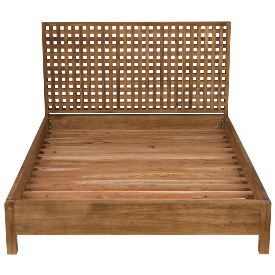 Quinnton Bed, Queen, Teak