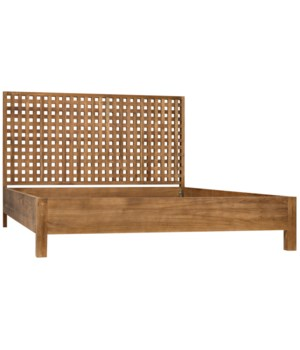 Quinnton Bed, Queen, Teak