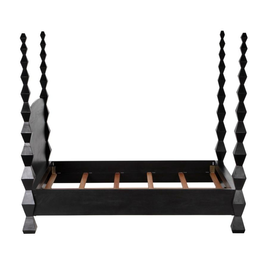 Brancusi Bed, Queen, Hand Rubbed Black