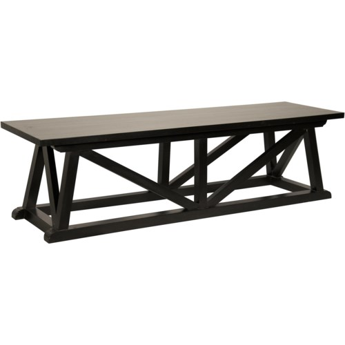 Sutton Bench, Hand Rubbed Black