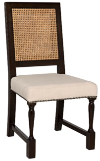 Colonial Caning Chair, Distressed Brown
