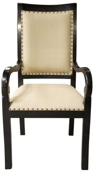 Henry Arm Chair, Hand Rubbed Black