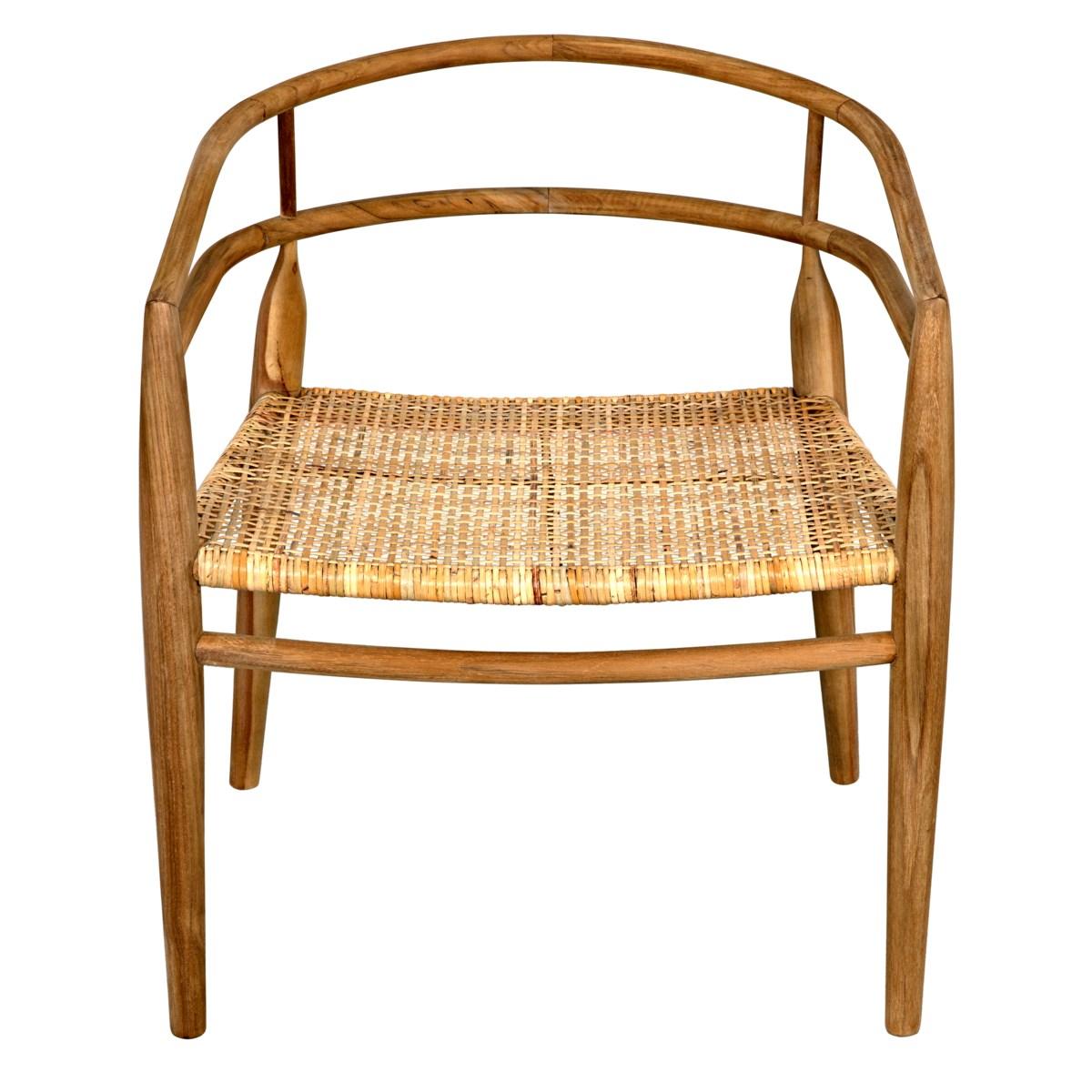 Finley Chair with Rattan, Teak