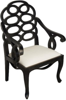 Cesara Arm Chair, Hand Rubbed Black