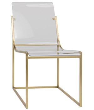Pascoe Chair, Metal Antique Brass