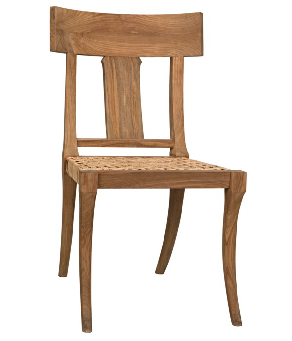 Athena Side Chair,Teak with Caning