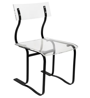 Riva Chair with Acrylic And Black Metal