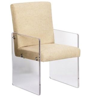 Clarice Chair, Acrylic/Linen