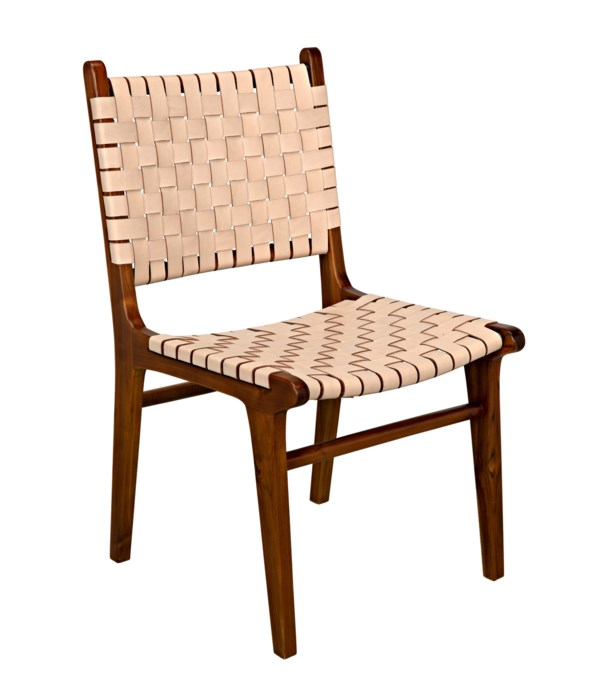 Dede Dining Chair, Teak with Leather