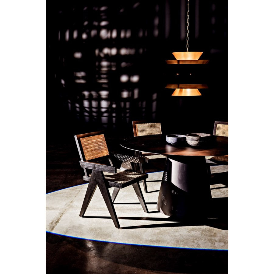 Jude Chair w/Caning, Black
