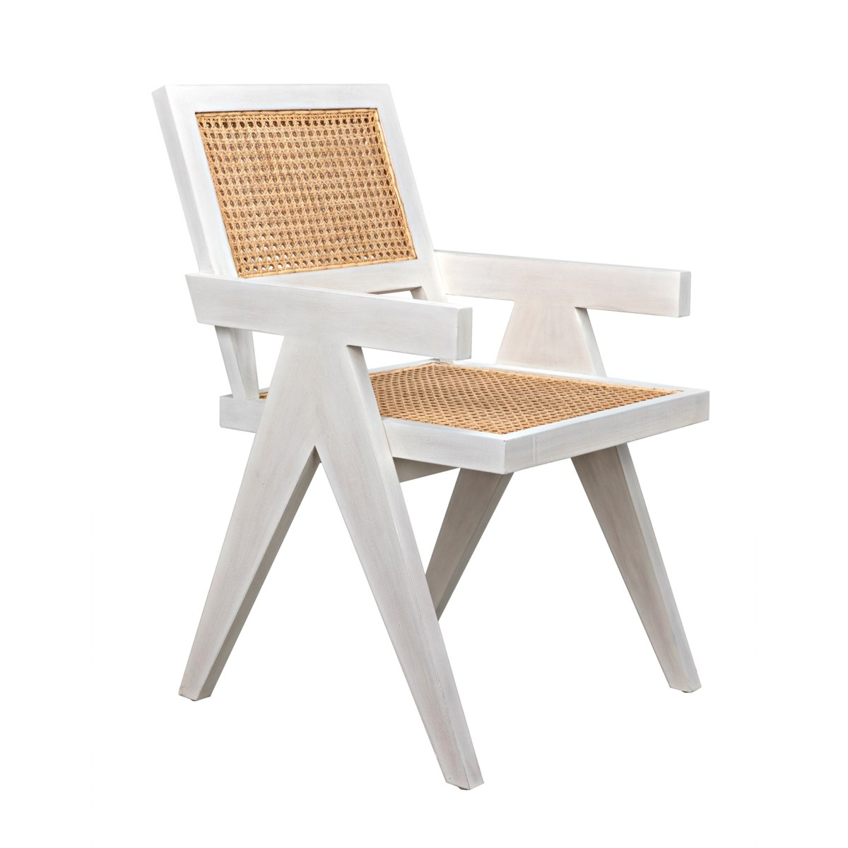 Jude Chair w/Caning, White Wash