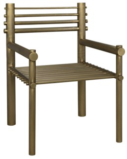 Berlin Chair, Metal Antique Brass