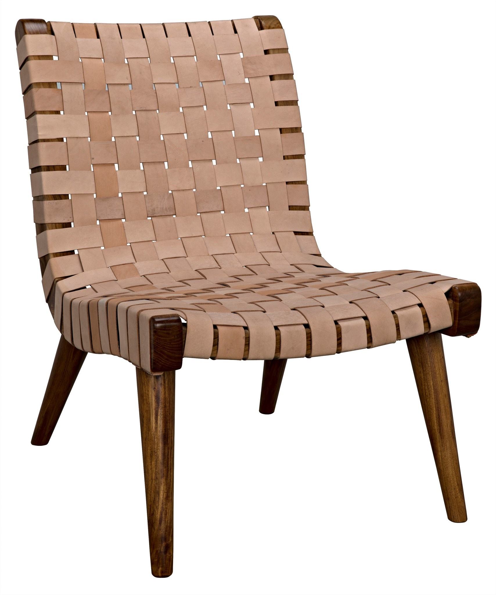 Cohen Chair Teak And Leather Occasional Chairs