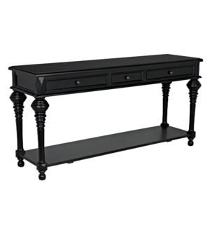 Colonial Sofa Table, Black
