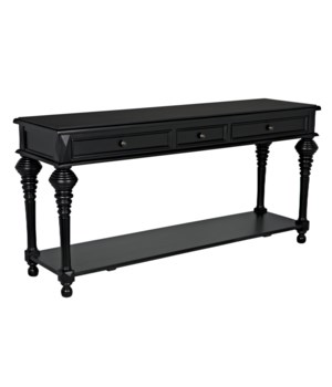Colonial Sofa Table, Black