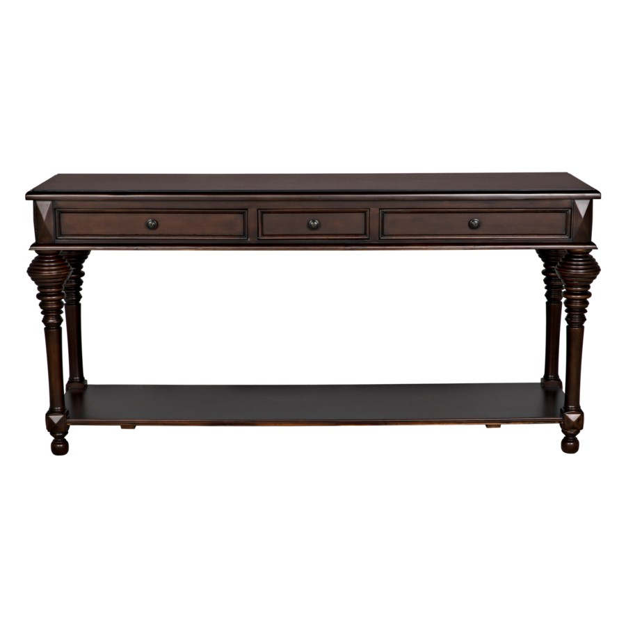 Colonial Sofa Table, Distressed Brown