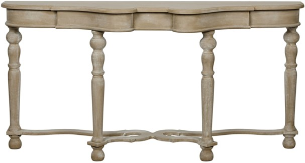 QS Chateau Sofa Table, Weathered