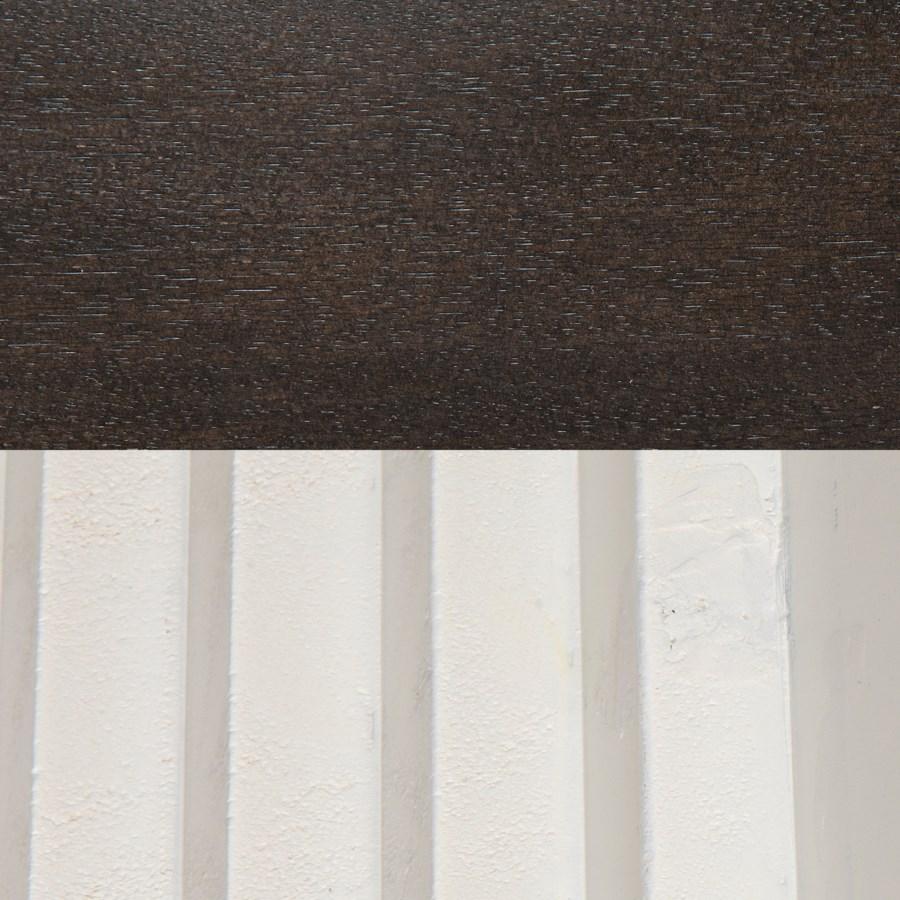 Nelson Console, Ebony Walnut w/White Detail