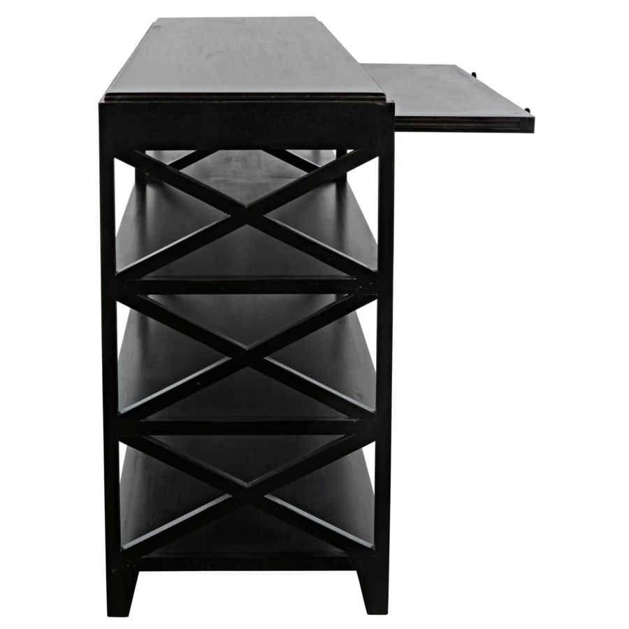 Sutton Console, Hand Rubbed Black