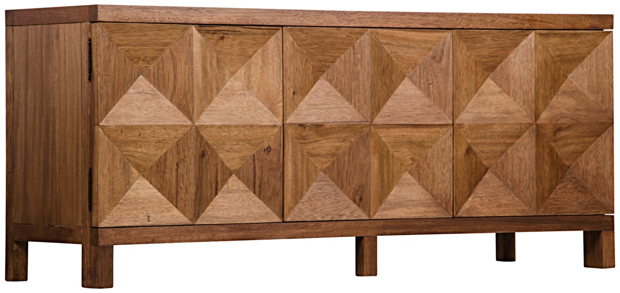 QS Quadrant 3 Door Sideboard, Dark Walnut