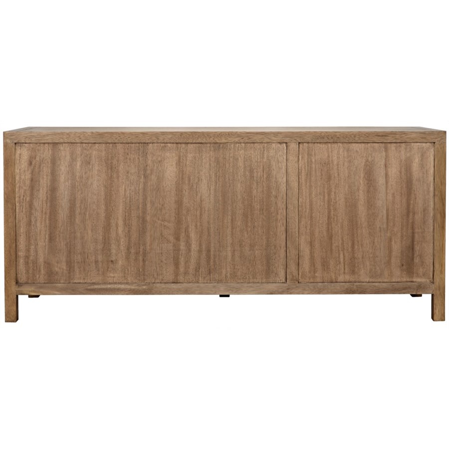 Quadrant 3 Door Sideboard, Washed Walnut