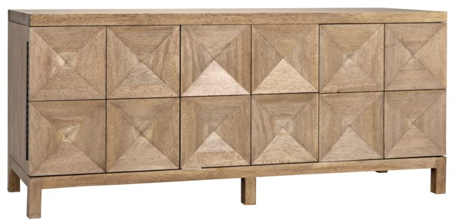 QS Quadrant 3 Door Sideboard, Washed Walnut
