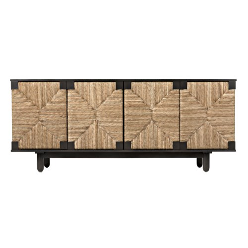 Brook 4 Door Sideboard, Pale