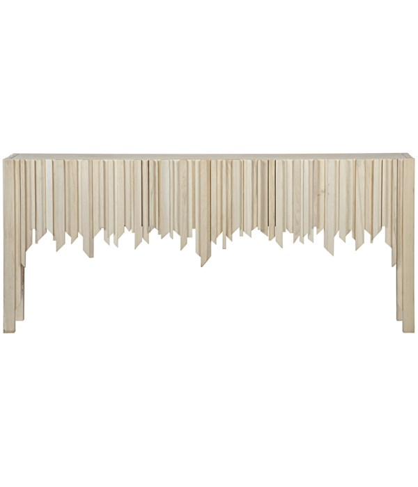 Desdemona Sideboard with 3 Drawers, Bleached Elm