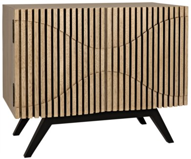Illusion Single Sideboard, Metal And Walnut