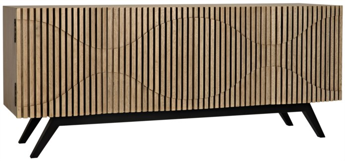 Illusion Sideboard, Metal And Walnut