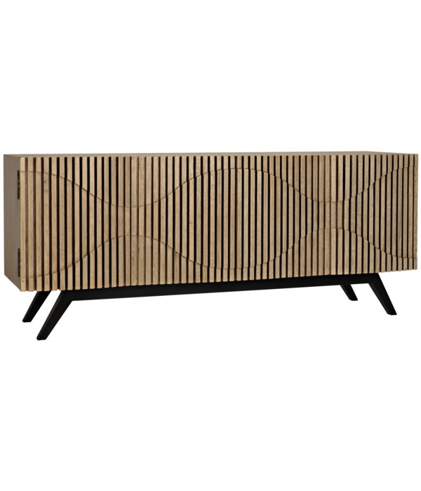 Illusion Sideboard with Steel Base, Bleached Walnut