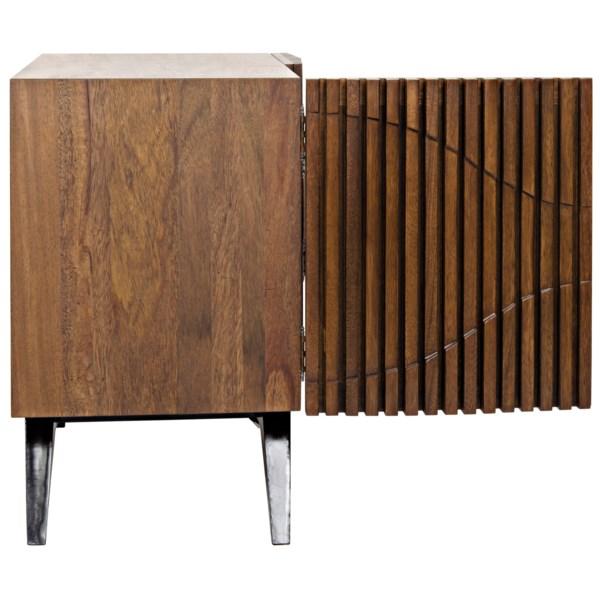 Illusion Single Sideboard, Walnut and Metal