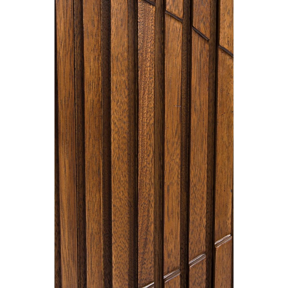 Illusion Single Sideboard with Steel Base, Dark Walnut