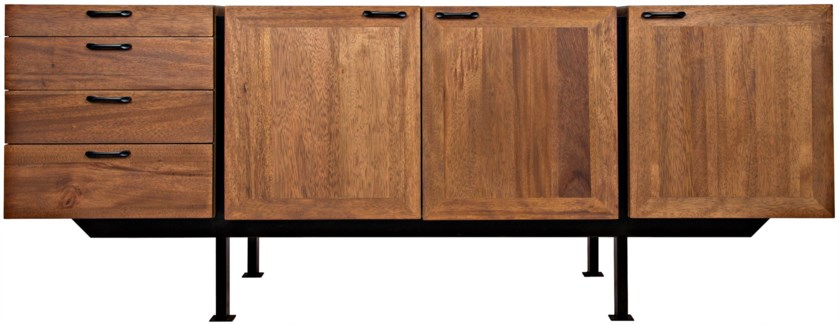 Mind-Croft Sideboard, Walnut and Metal